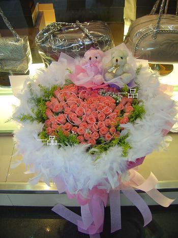 精品粉玫瑰
